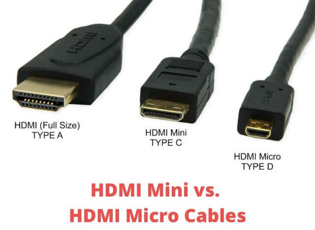 HDMI Mini vs HDMI Micro Cables